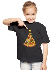 Pizza Christmas Tree Youth T-Shirt lifestyle-youth-tshirt-front-2