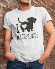 I Love Dachshunds Classic T-Shirt apparel-classic-tshirt-lifestyle-26