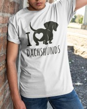 I Love Dachshunds Classic T-Shirt apparel-classic-tshirt-lifestyle-27