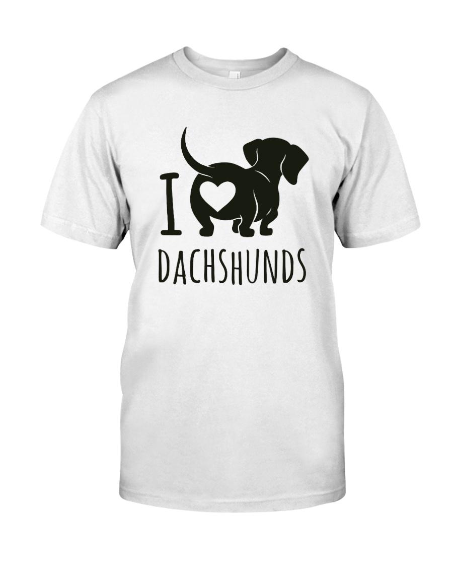 I Love Dachshunds Classic T-Shirt