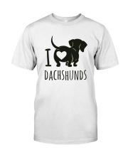 I Love Dachshunds Premium Fit Mens Tee thumbnail