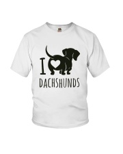 I Love Dachshunds Youth T-Shirt thumbnail