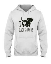 I Love Dachshunds Hooded Sweatshirt thumbnail