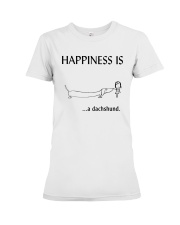 Happiness is a Dachshund Premium Fit Ladies Tee thumbnail
