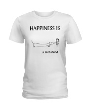 Happiness is a Dachshund Ladies T-Shirt thumbnail