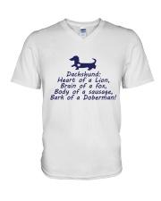Dachshund Lovers V-Neck T-Shirt thumbnail