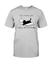 Coffee Cats and Books Classic T-Shirt tile