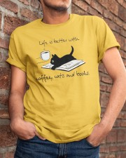 Coffee Cats and Books Classic T-Shirt apparel-classic-tshirt-lifestyle-26