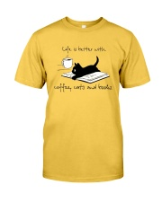 Coffee Cats and Books Classic T-Shirt front