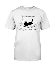 Coffee Cats and Books Premium Fit Mens Tee thumbnail
