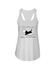 Coffee Cats and Books Ladies Flowy Tank thumbnail