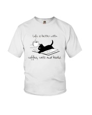 Coffee Cats and Books Youth T-Shirt thumbnail