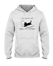 Coffee Cats and Books Hooded Sweatshirt thumbnail