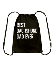 Best Dachshund Dad Ever Drawstring Bag thumbnail
