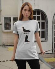 Inhale Exhale Dachshund Yoga Classic T-Shirt apparel-classic-tshirt-lifestyle-19