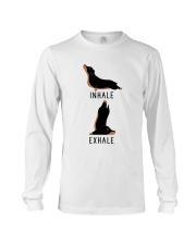 Inhale Exhale Dachshund Yoga Long Sleeve Tee thumbnail