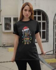 Dachshund Christmas Tree Classic T-Shirt apparel-classic-tshirt-lifestyle-19