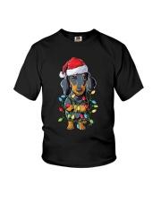 Dachshund Christmas Tree Youth T-Shirt thumbnail