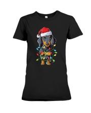 Dachshund Christmas Tree Premium Fit Ladies Tee thumbnail
