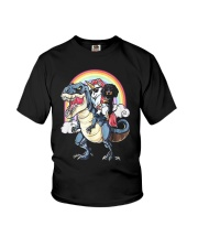 Dachshund Unicorn T rex Youth T-Shirt thumbnail