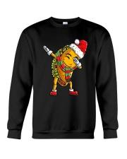 Dabbing Santa Taco Christmas Crewneck Sweatshirt thumbnail