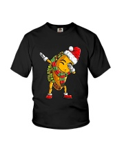 Dabbing Santa Taco Christmas Youth T-Shirt tile