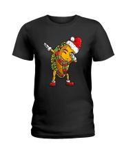 Dabbing Santa Taco Christmas Ladies T-Shirt front