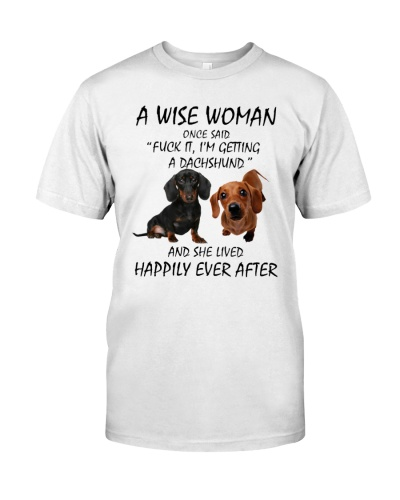 A Wise Woman and Dachshund