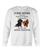 A Wise Woman and Dachshund Crewneck Sweatshirt thumbnail