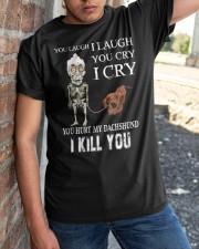 Don't Hurt My Dachshund Classic T-Shirt apparel-classic-tshirt-lifestyle-27