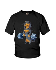 Dachshund Weightlifting Youth T-Shirt tile