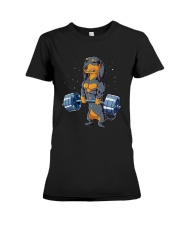 Dachshund Weightlifting Premium Fit Ladies Tee thumbnail