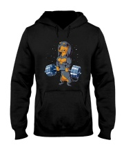 Dachshund Weightlifting Hooded Sweatshirt thumbnail