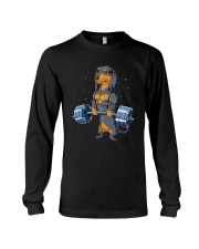 Dachshund Weightlifting Long Sleeve Tee thumbnail