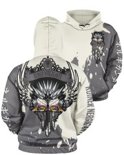 RUINER NERGIGANTE - SUBLIMATION Men's All Over Print Hoodie aos-men-hoodie-ghosted-front-05