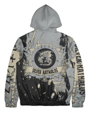SILVER RATHALOS - SUBLIMATION-V3 Men's All Over Print Full Zip Hoodie tile