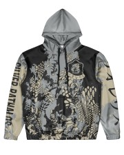 SILVER RATHALOS - SUBLIMATION-V2 Men's All Over Print Hoodie front