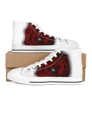 Redroses Men's High Top White Shoes tile