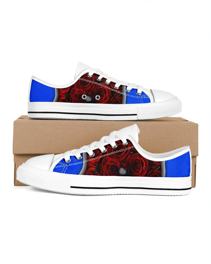 Redroses Women's Low Top White Shoes