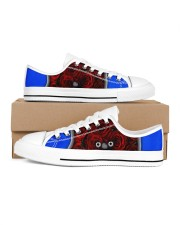 Redroses Women's Low Top White Shoes inside-right-outside-right