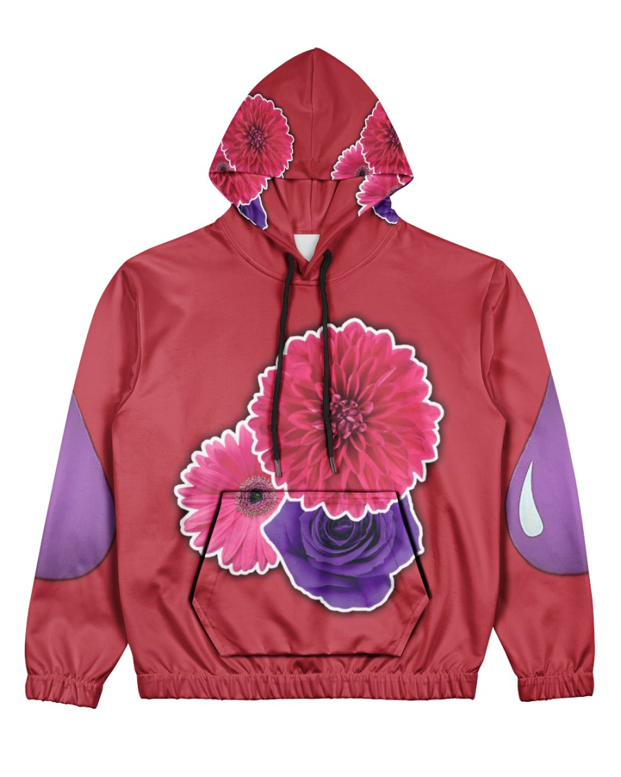 Floral PurpSauce Women's All Over Print Hoodie