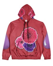 Floral PurpSauce Women's All Over Print Hoodie front