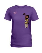 BassHead Purple Designed by A'miyah  Ladies T-Shirt thumbnail