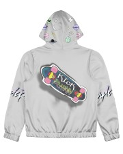 BassHead Purple Designed by A'miyah  Women's All Over Print Full Zip Hoodie back