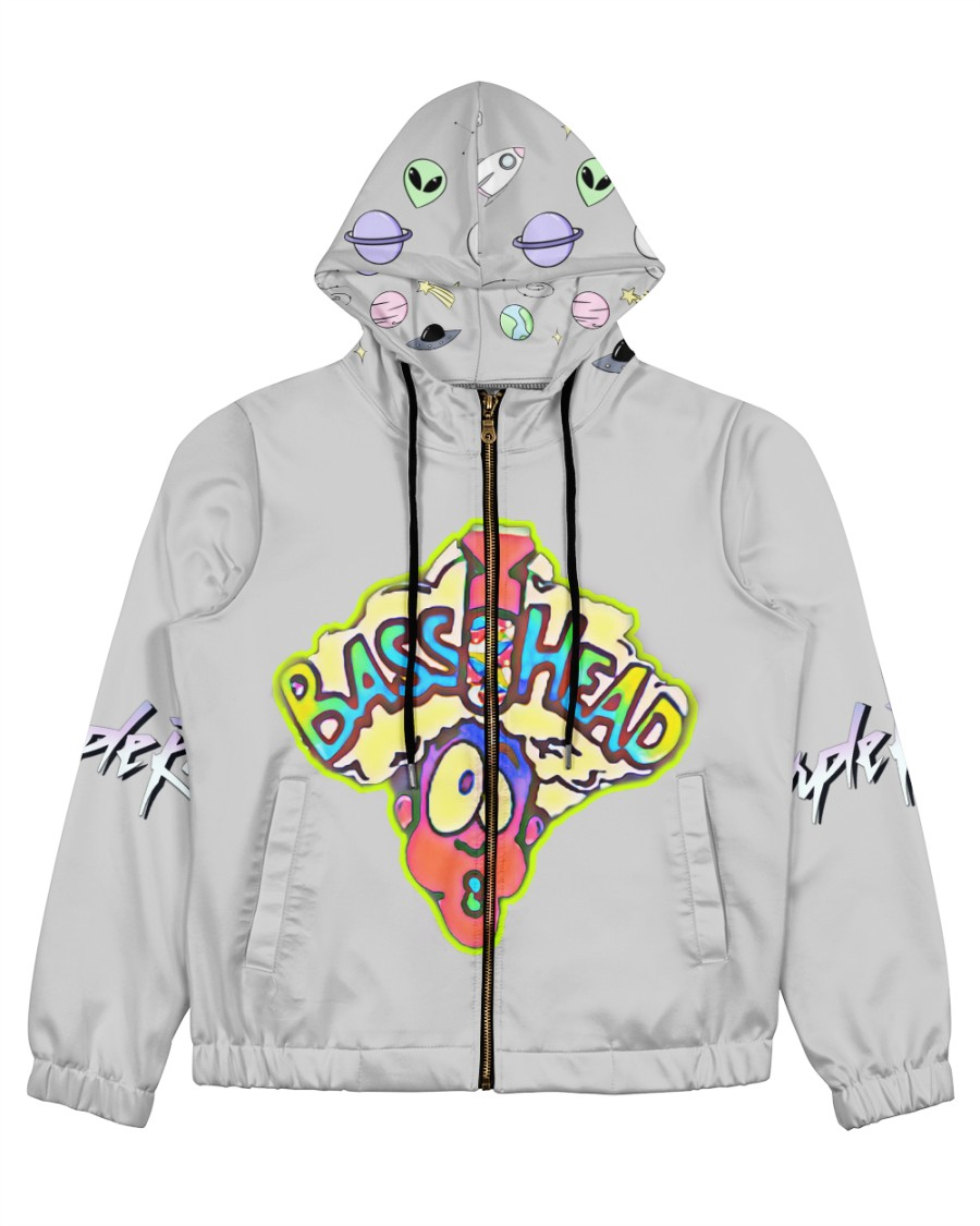 BassHead Purple Designed by A'miyah  Women's All Over Print Full Zip Hoodie