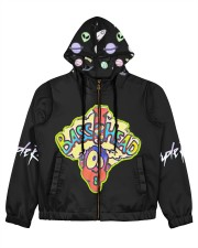 BassHead Purple Designed by A'miyah  Women's All Over Print Full Zip Hoodie tile