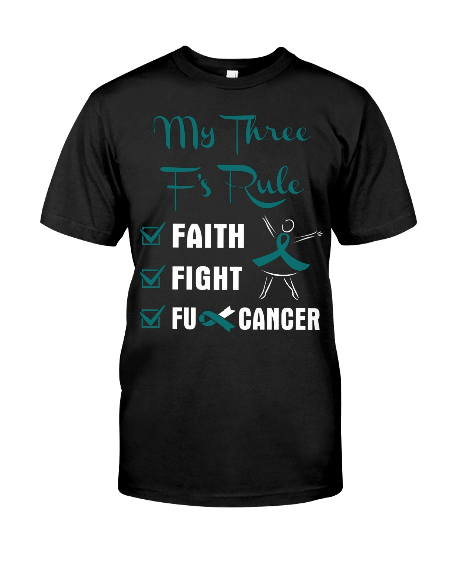 cervical-cancer-teal-white-3ru Classic T-Shirt