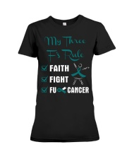 cervical-cancer-teal-white-3ru Premium Fit Ladies Tee thumbnail