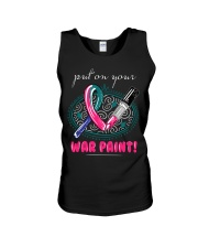 thyroid-cancer-teal-blue-pink-color Unisex Tank thumbnail