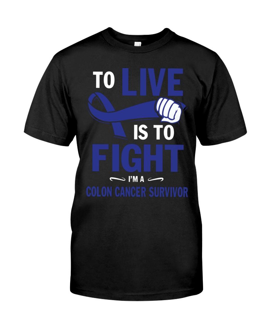 colon-cancer-darkblue-lfi Classic T-Shirt